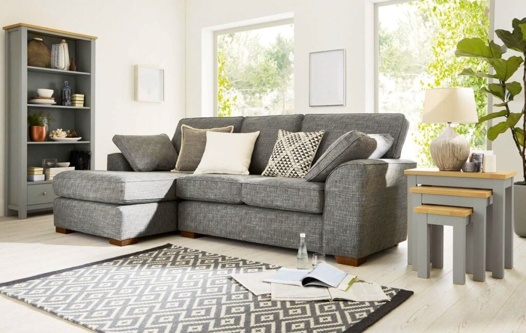Small living room with creative furniture to make the room bigger