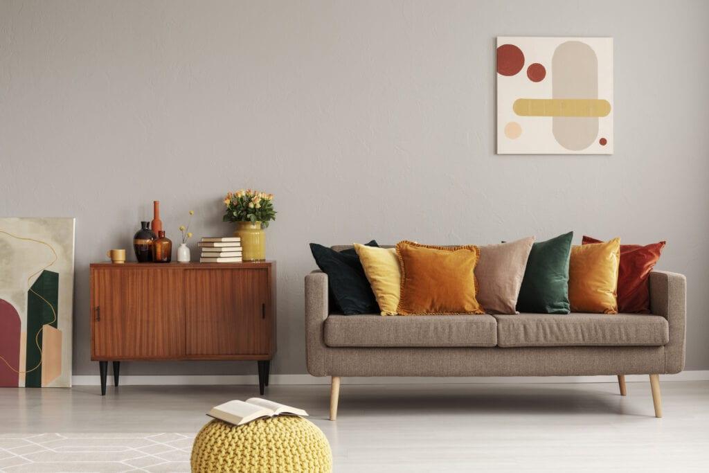 Retro style living room