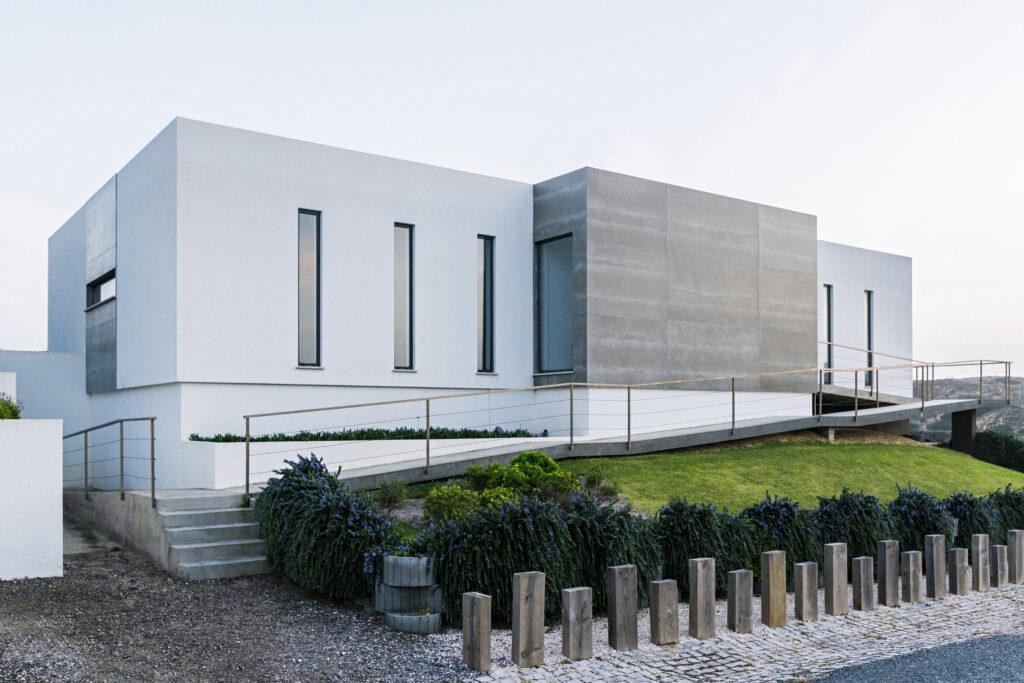 Exterior view of a modern villa