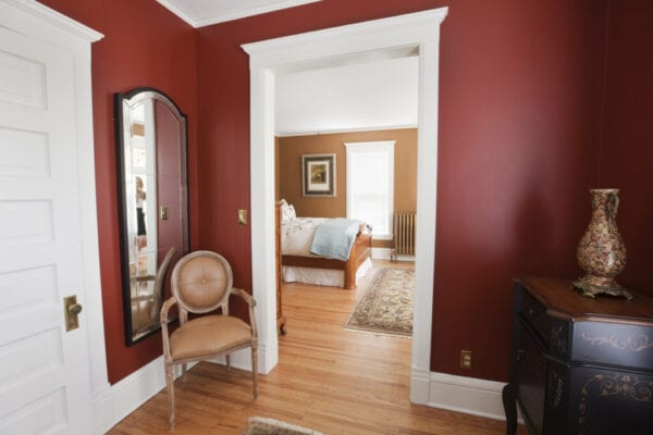 Renovated, Restored Victorian Home Interior, a Bedroom in Classic Style