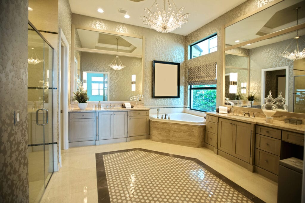 A beautiful modern bathroom