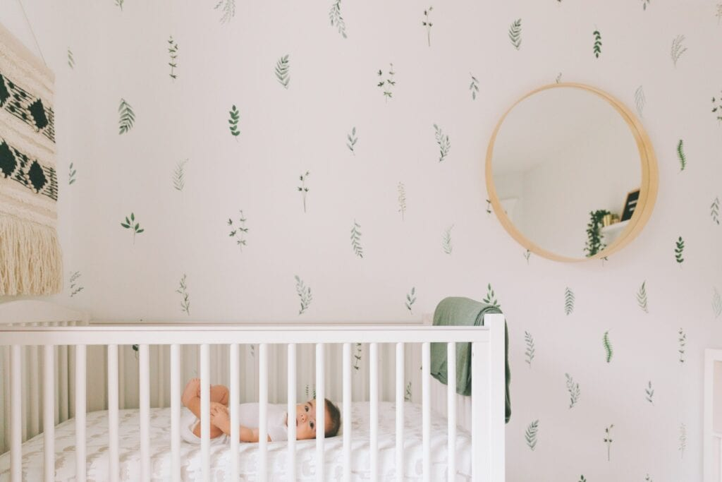 bold theme baby room