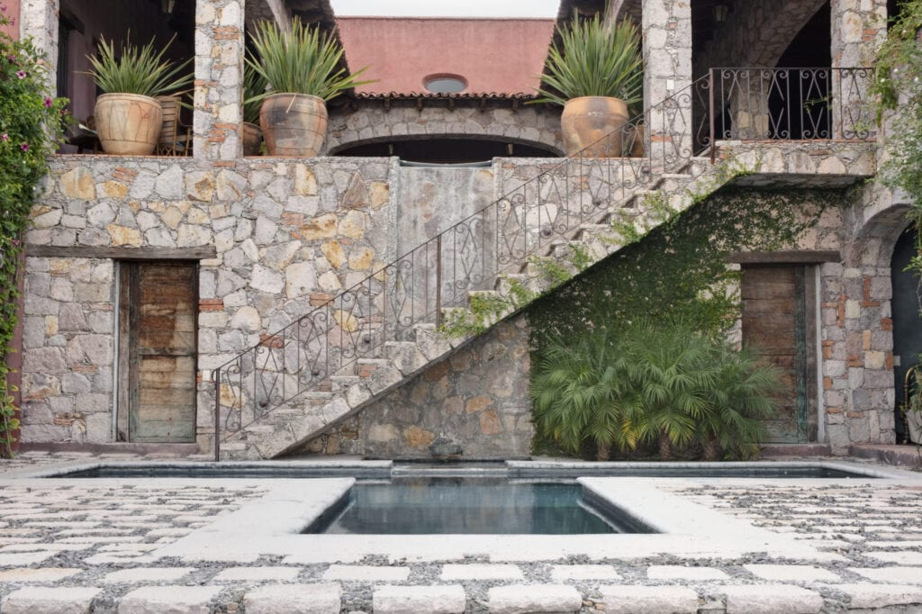 Pool and Steps to the Casa Luna Ranch