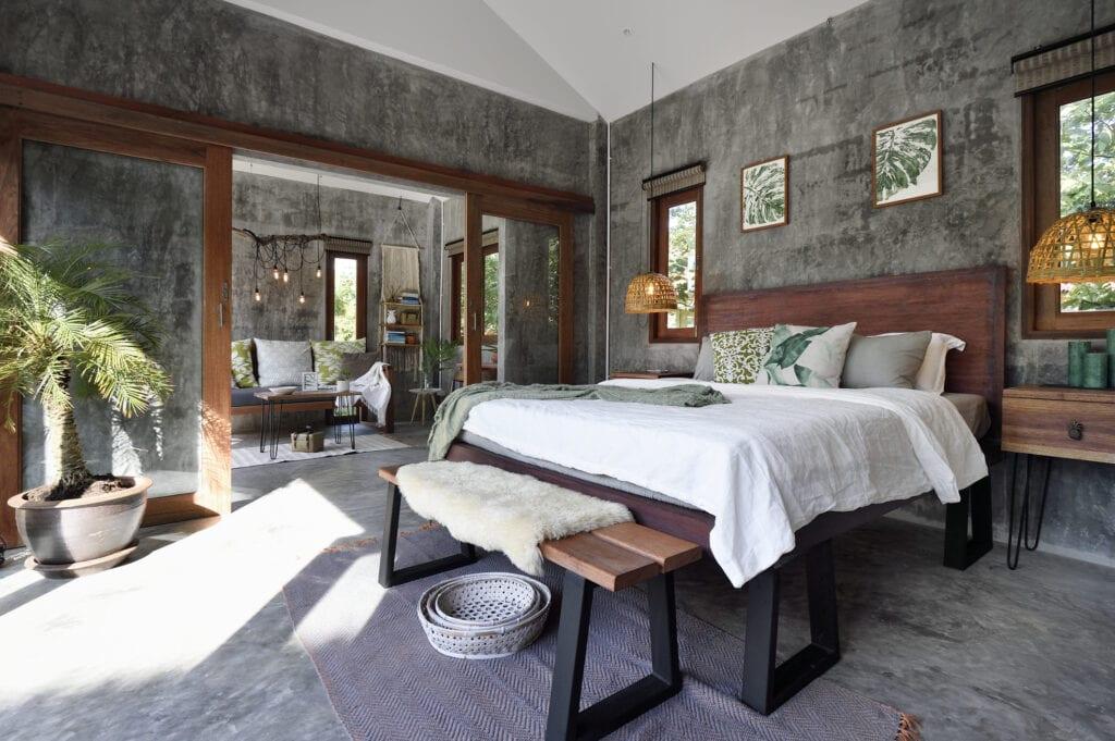 Luxury tropical bedroom