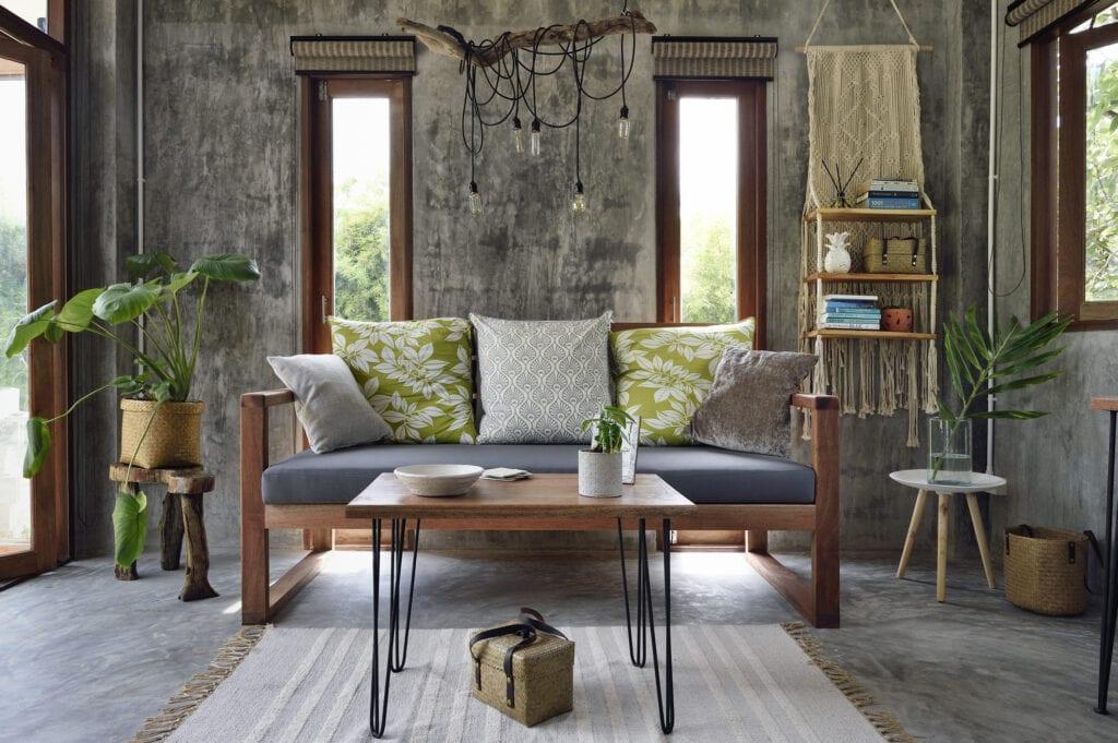 Tropical modern living room