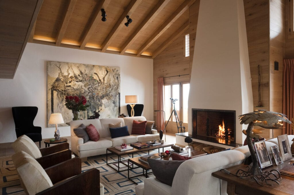 Swiss Chalet with interior designed by Tino Zervudachi, Gstaad