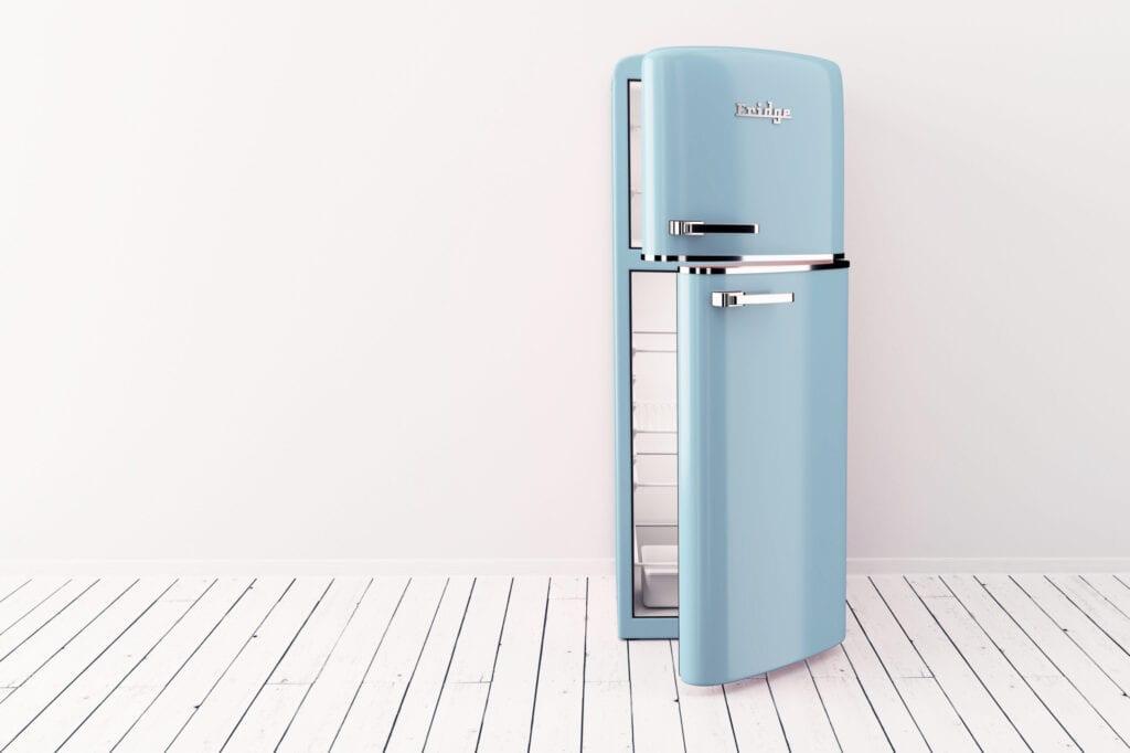 blue fridge