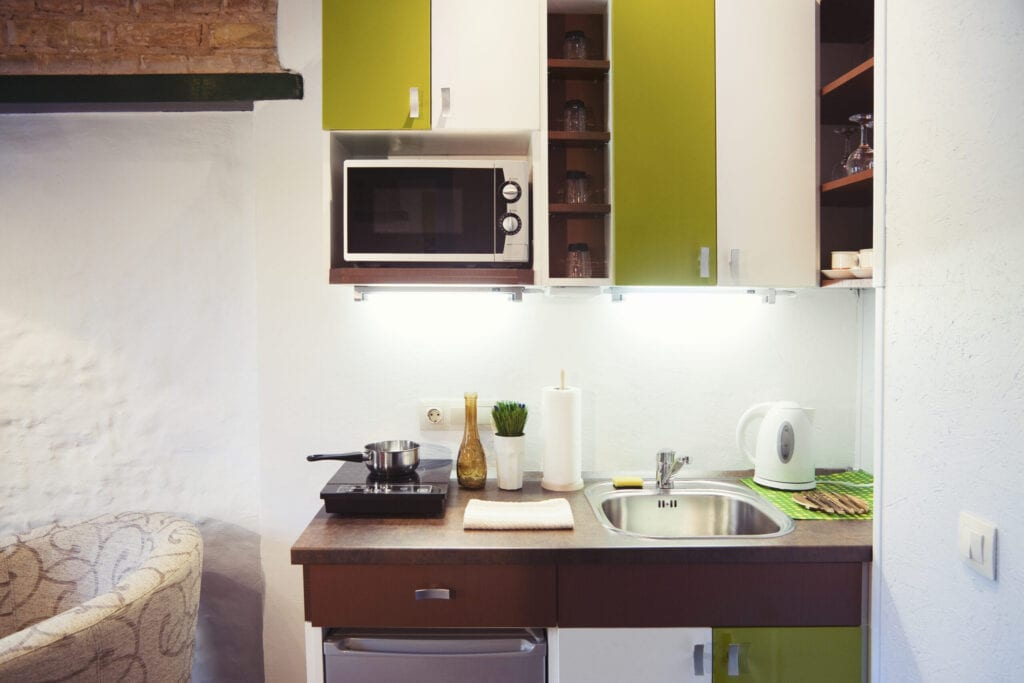 green small kitchen