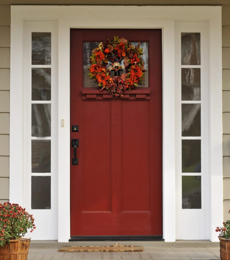 Front door at Harvest time.FOR MORE HOUSES AND DOORS (CLICK
