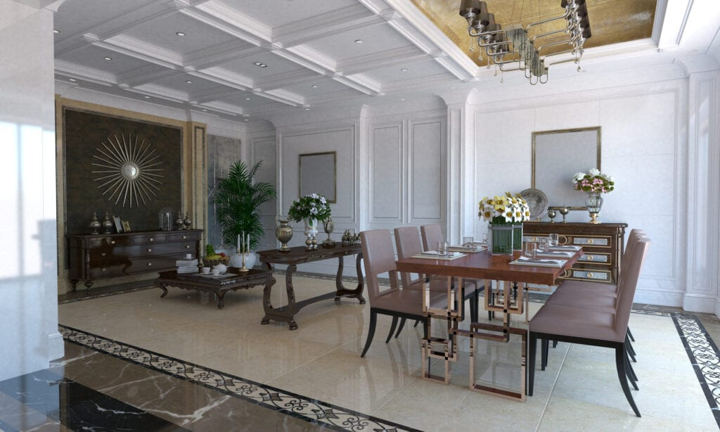 Classical designed dining room