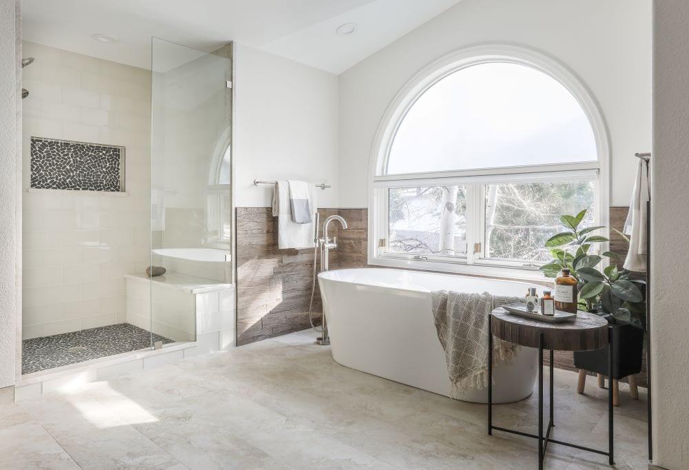 Open luxury bathroom