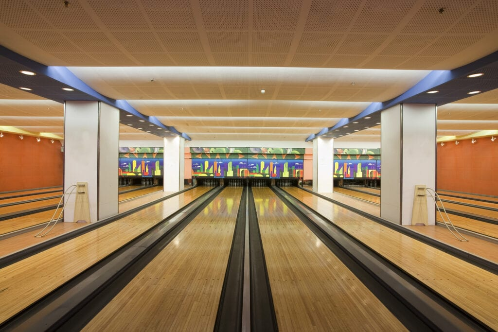 Bowling alley in home