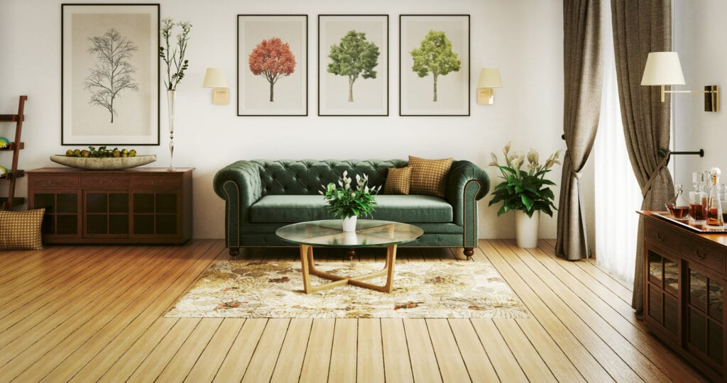 Natural colored living room