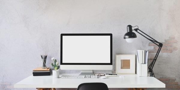 File holder on desk