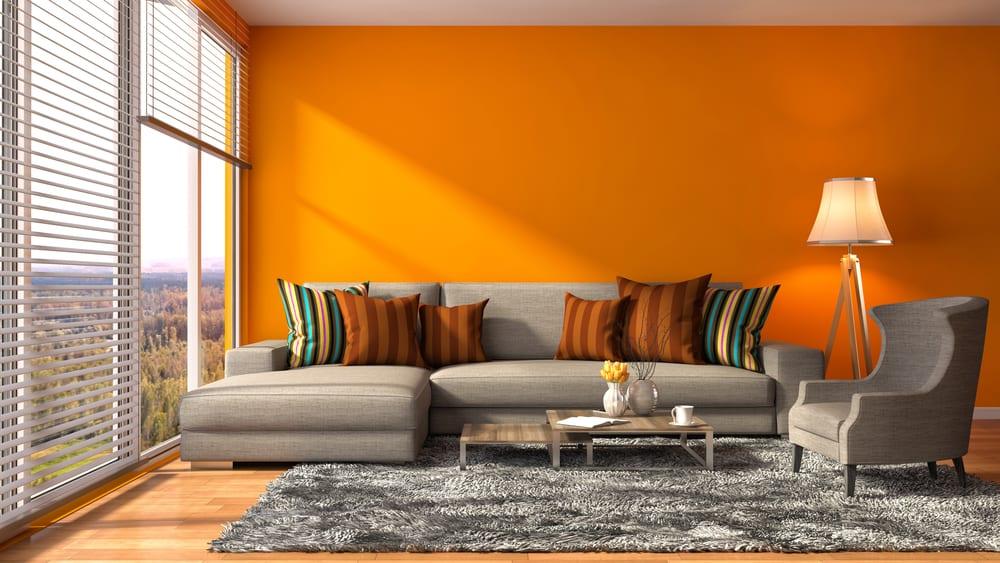 Orange living room