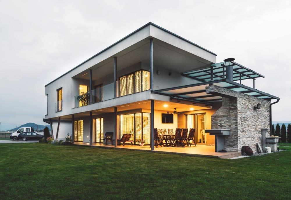 International style house, luxury mansion