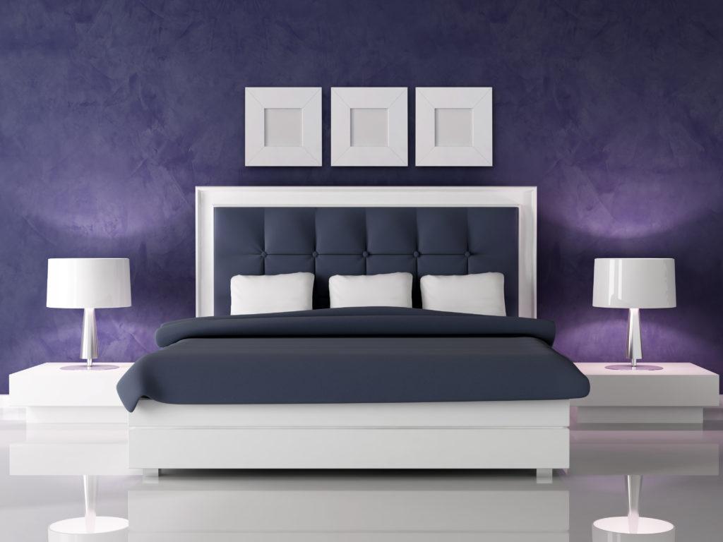 Purple luxury bedroom