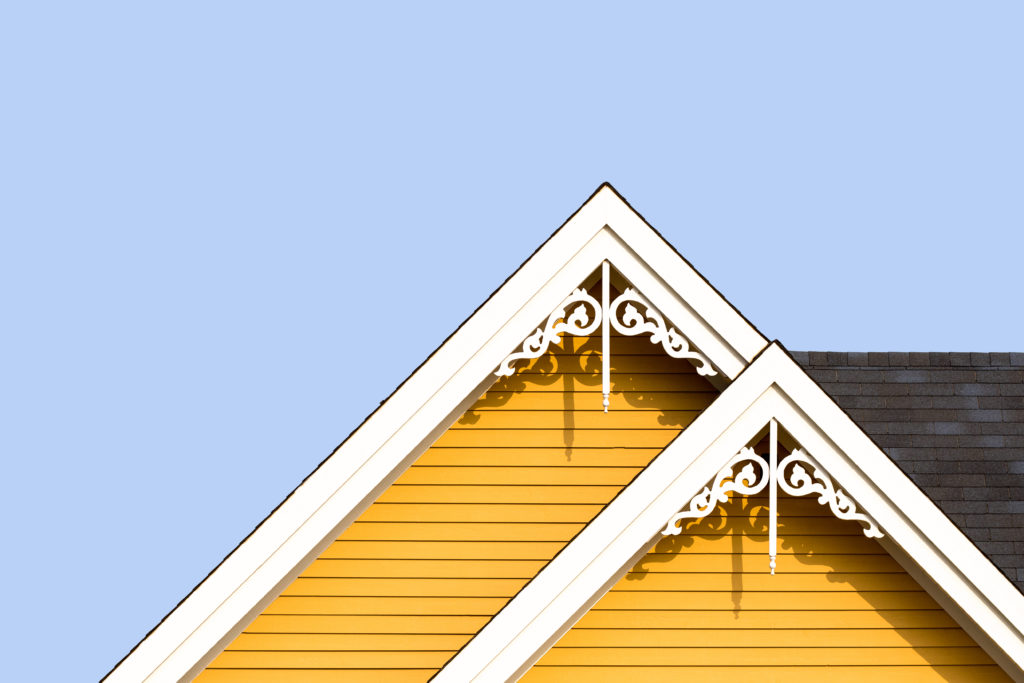Rooftop detail with decorative fretwork