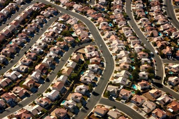 Aerial view of a North Las Vegas suburb