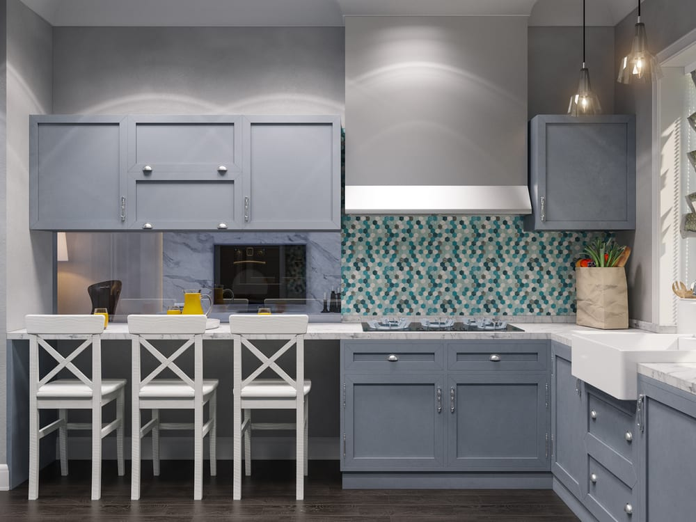 Pale gray modern kitchen