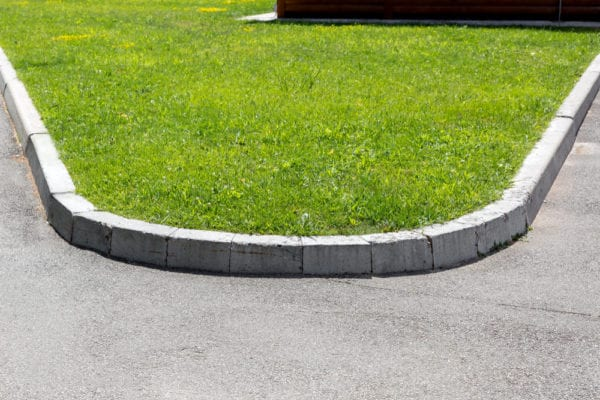 molded concrete edging