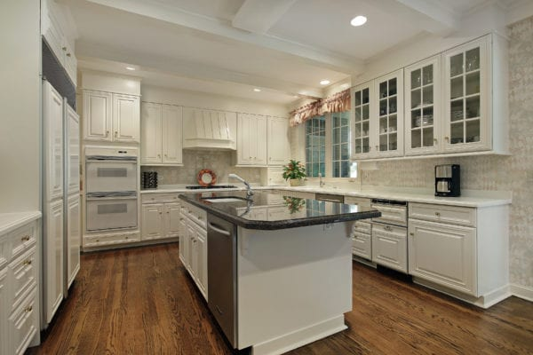 Luxury kitchen with cream colored cabinets