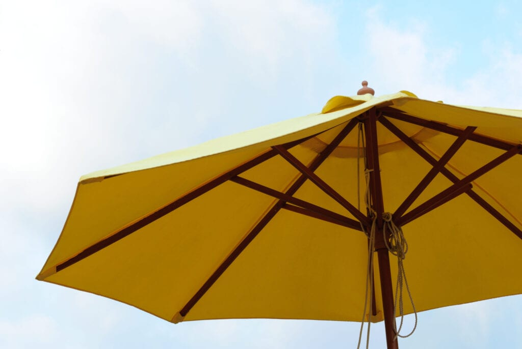 backyard umbrella