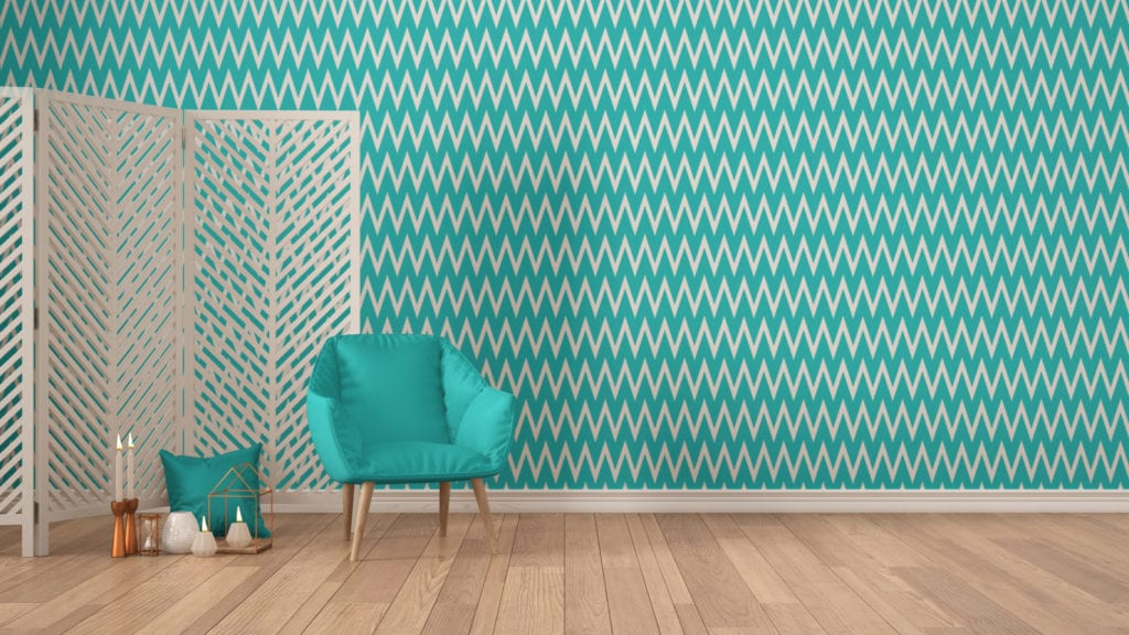 turquoise chevron wallpaper