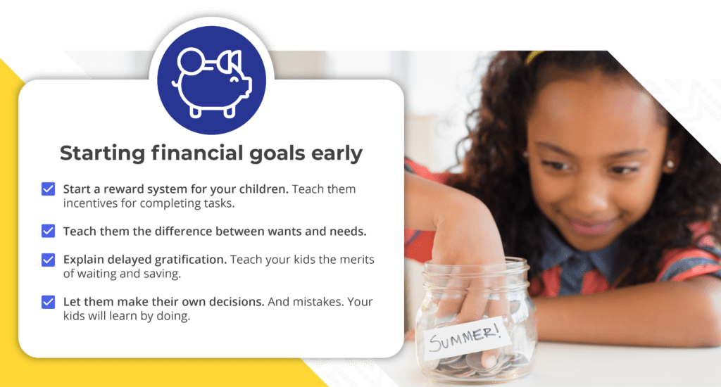 infographic on starting financial goals early