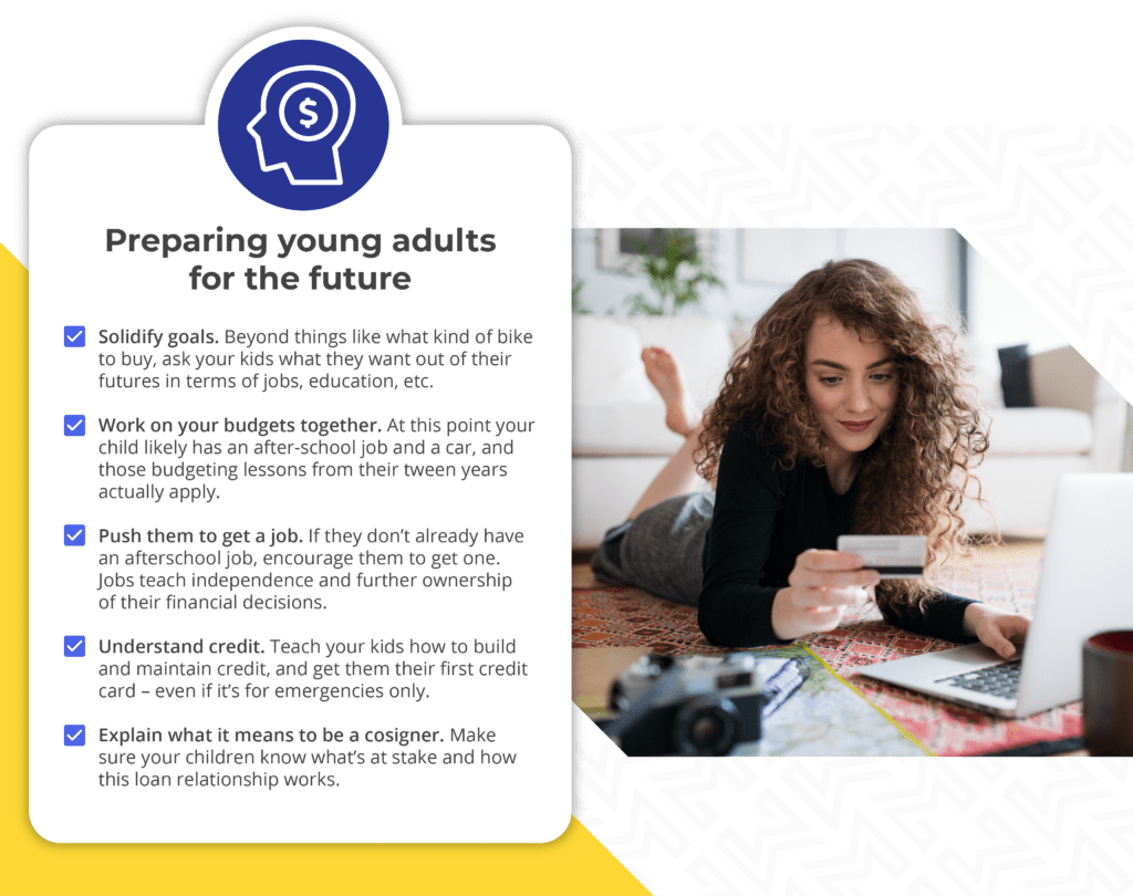 "info-graphic showing ""preparing young adults for the future"""