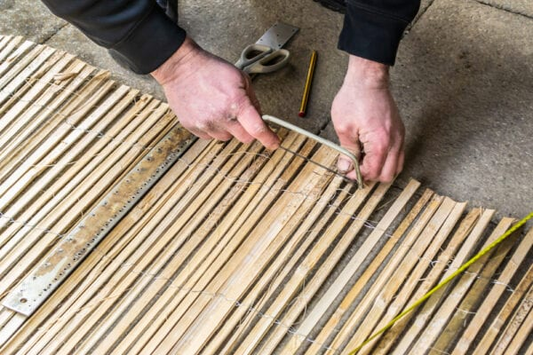 Make a bamboo screen for your balcony